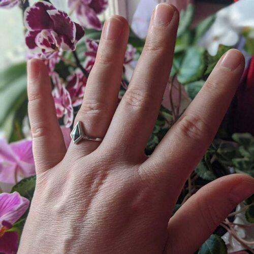 Black Kite Salt and Pepper Diamond Engagement Ring photo review