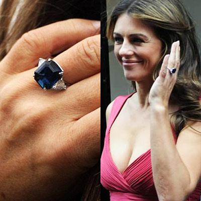 elizabeth hurley's engagement ring