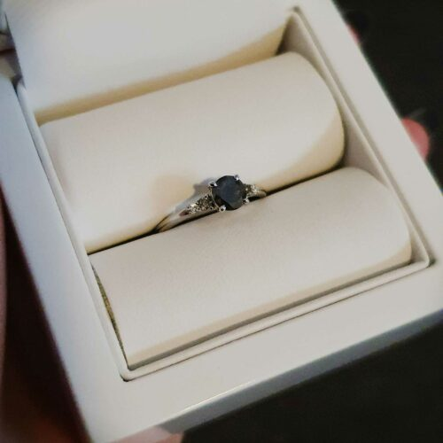 Black Diamond Ombre Engagement Ring photo review