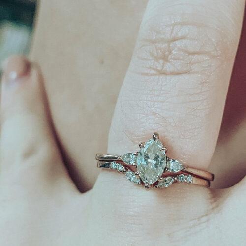 Open Diamond Stacking Wedding Band photo review